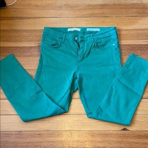 Bright Green Anthropologie Skinny Jeans